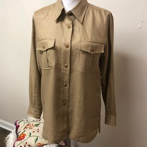 Beautiful Ralph Lauren Linen Button Down w Flaws